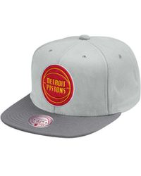 Mitchell & Ness - Detroit Pistons Cool Gray Snapback Cap - Lyst