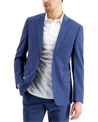 Armani Exchange Slim-fit Suit Jcket - Blue