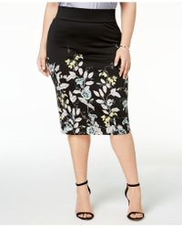 Alfani - Plus Size Scuba Midi Skirt, Created For Macy's - Lyst