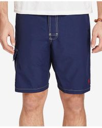8a5ad7d221 Ralph Lauren Polo Big and Tall Kailua Swim Trunks in Blue for Men - Lyst