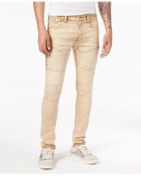 Guess - Skinny Fit Stretch Moto Jeans - Lyst
