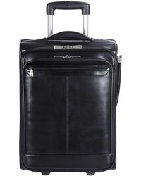 Mancini Signature Collection Wheeled Laptop And Tablet Briefcase - Black