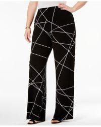 Alfani - Plus Size Printed Wide-leg Pants - Lyst