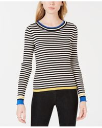 Maison Jules - Striped Ribbed-knit Sweater, Created For Macy's - Lyst