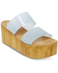 acf9ab60b169 Steve Madden - Confession Wedge Sandals - Lyst
