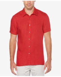 Perry Ellis - Short Sleeve Linen Shirt - Lyst