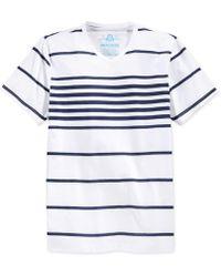 American Rag | Highlight Stripe V-neck T-shirt | Lyst