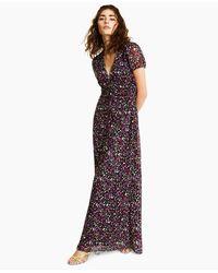 Bar Iii Floral-print Puff-sleeve Maxi Dress, Created For Macy's - Multicolour