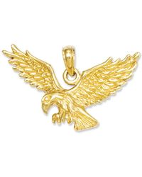 Macy's - 14k Gold Charm, Solid Polished Eagle Charm - Lyst