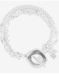 Lucky Brand Silver-tone Triple-chain Flex Bracelet - Metallic