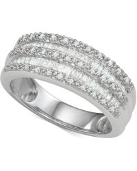 Macy's Diamond Band Ring (1/2 Ct. T.w.) In Sterling Silver - Metallic