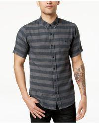 Ezekiel - Black Rock Striped Button-up Shirt - Lyst
