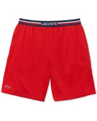 Lacoste Stretch Pajama Shorts - Red