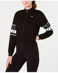 PUMA - Rebel Cropped Track Jacket - Lyst