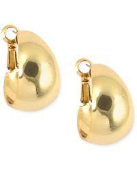 Anne Klein - Medium Band Hoop Earrings - Lyst