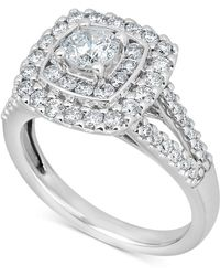 Macy's - Diamond Engagement Ring (1-3/8 Ct. T.w.) In 14k White Gold - Lyst
