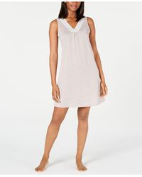 Charter Club Super Soft Knit Lace-trim Chemise Nightgown, Created For Macy's - Multicolour