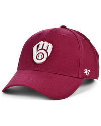 47 Brand Milwaukee Brewers Cardinal Mvp Cap - Red