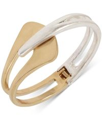 Robert Lee Morris Two-tone Sculptural Bypass Bangle Bracelet - Metallic