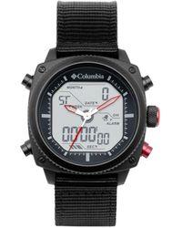 Columbia Ridge Runner Black Nylon Analog-digital Watch 45mm