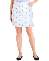 Karen Scott Petite Lace-embroidered Skort, Created For Macy's - White