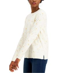 Style & Co. Star-print Sweater, Created For Macy's - Multicolour
