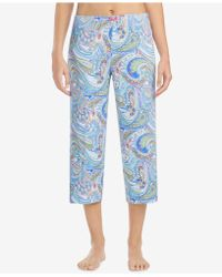 Ellen Tracy - Printed Cropped Pajama Pants - Lyst