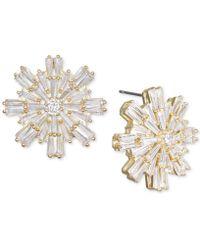 Badgley Mischka - Baguette Crystal Starburst Cluster Stud Earrings - Lyst