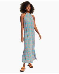 Bar Iii Halter Maxi Dress, Created For Macy's - Blue