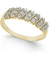 Macy's - Diamond Multi-row Band (1/5 Ct. T.w.) In 14k White Gold - Lyst