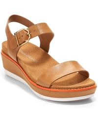 Cole Haan Originalgrand Flatform Wedge Sandals - Black