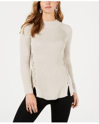 Style & Co. - Lace-up Mock-turtleneck Sweater, Created For Macy's - Lyst