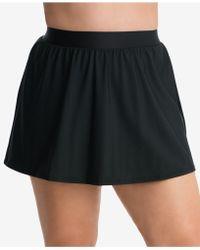 Miraclesuit Plus Size Swim Skirt - Black