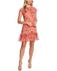 Cece Ruffled Floral-print Dress - Multicolour