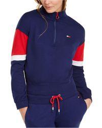 Tommy Hilfiger Sport Colorblocked Half-zip Top - Blue