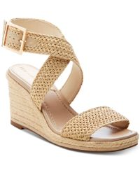 Enzo Angiolini Porice2 Wedge Sandals - Natural