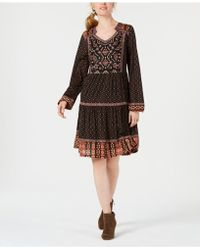 Style & Co. - Petite Embroidered Peasant Dress, Created For Macy's - Lyst