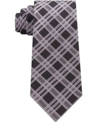 Kenneth Cole Reaction - Jonathan Plaid Silk Tie - Lyst