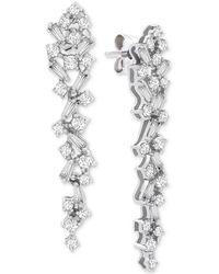 Macy's - Wrapped In Lovetm Diamond Scatter Drop Earrings (1 Ct. T.w.) In 14k White Gold, Created For - Lyst