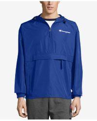 Champion - Packable Half-zip Hooded Water-resistant Jacket - Lyst