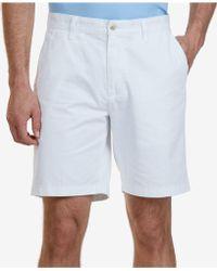 """Nautica - Big & Tall 10"""" Flat Front Deck Shorts - Lyst"""
