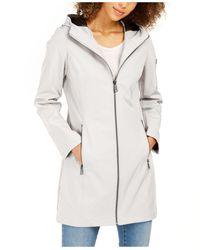 Calvin Klein - Petite Hooded Raincoat - Lyst