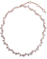 Givenchy - Rose Gold-tone Flower Collar Necklace - Lyst