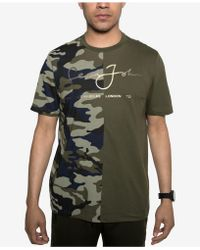 Sean John - Split Camo T-shirt - Lyst
