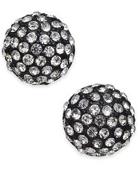 INC International Concepts - I.n.c. Jet-tone Crystal Ball Stud Earrings, Created For Macy's - Lyst