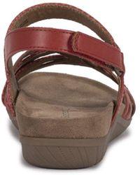BareTraps Jewel Sling Back Sandals - Red