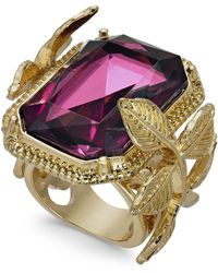 INC International Concepts - I.n.c. Gold-tone Leaf & Stone Square Statement Ring, Created For Macy's - Lyst