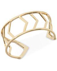 Vera Bradley Gold-tone Geometric Openwork Cuff Bracelet - Metallic