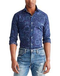 Polo Ralph Lauren Classic Fit Paisley Shirt - Blue