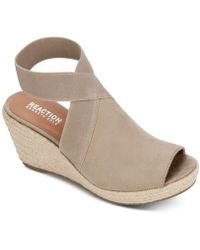 Kenneth Cole Reaction Carrie Ankle Strap Espadrille Wedge - Multicolor